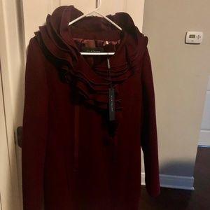 Elie Tahari Victoria Short Coat- Size S- NEW!!
